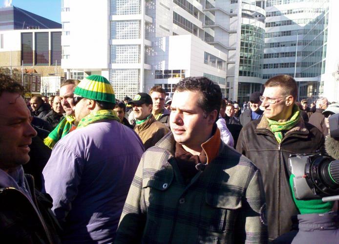 ADO Den Haag-supporter Tijl Beckand (van de Lama`s) was ook aanwezig