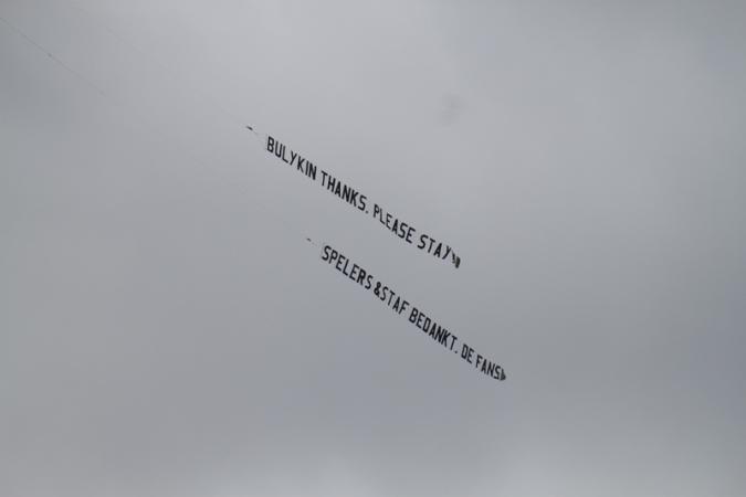 Fly-over bij laatste training (2010/2011)